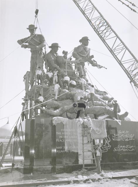 Menempatkan patung 7 gangsa sedang dijalankan sekitar tahun 1964-65